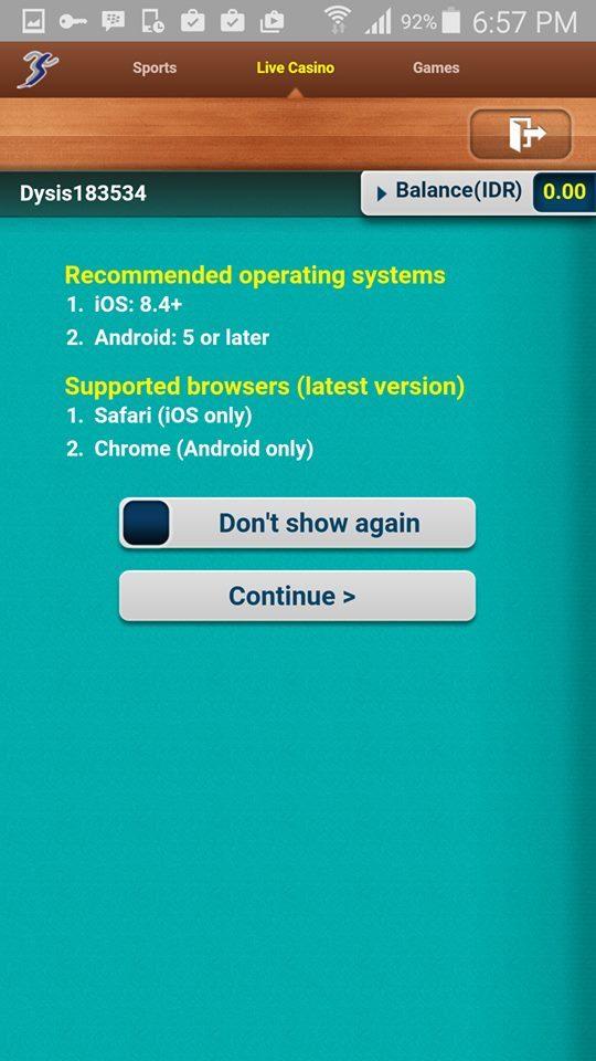 Panduan Cara Main Judi Bola SBOBET di Mobile HP Android